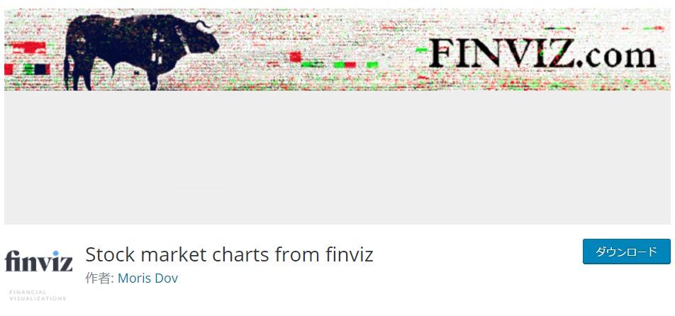 【WordPress】無料の株価チャートプラグインその2「Stock market charts from finviz」
